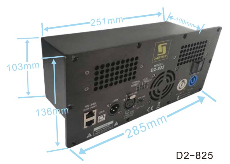 D2-825 800W 250W 2CH DSP Active Plate Amplifier for Bi-amp Speaker
